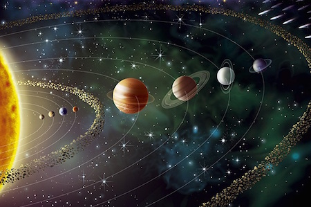 energía de los planetas