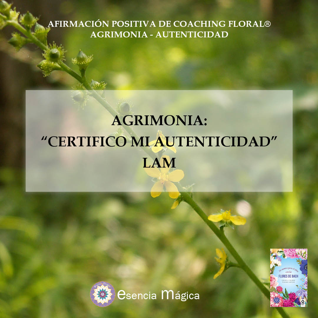 Afirmación positiva de Luz Pura Floral. Agronomía-Autenticidad