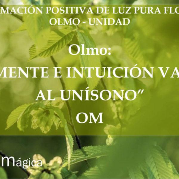 Afirmación positiva de Luz Pura Floral. Olmo-Unidad
